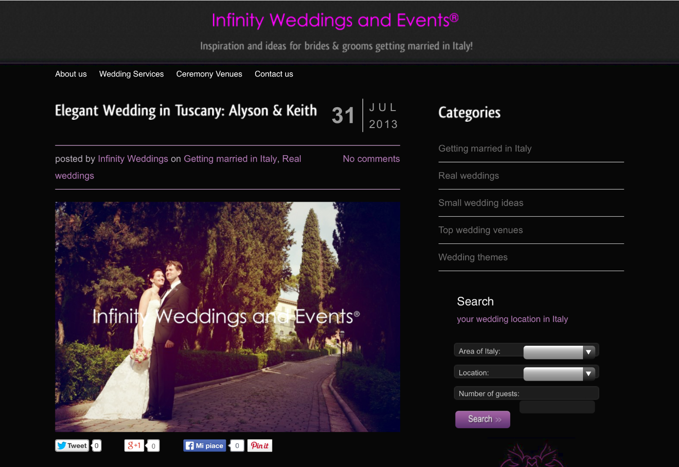 Infinity Weddings and Events | Real Wedding in Tuscany