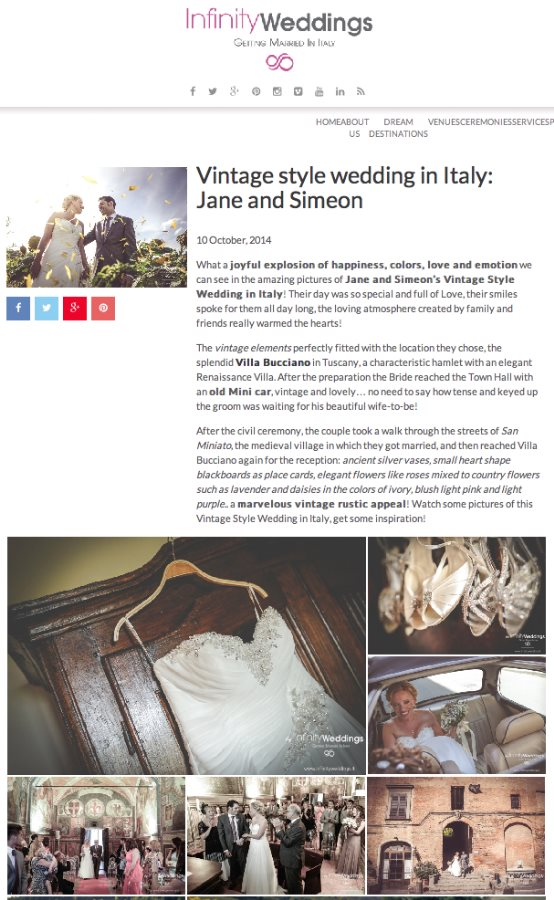 Destination Wedding in Italy | Vintage Style Wedding in Italy